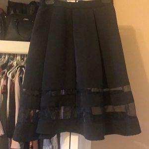 Express Midi-Skirt Black
